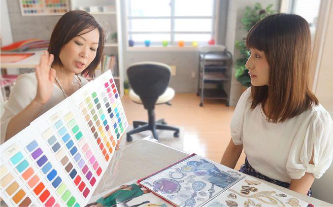 カラー診断は、まずアンケートを基に各種ヒアリングからスタートします