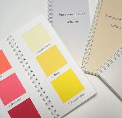カラー診断には布製の色見本帳が1冊付いております
